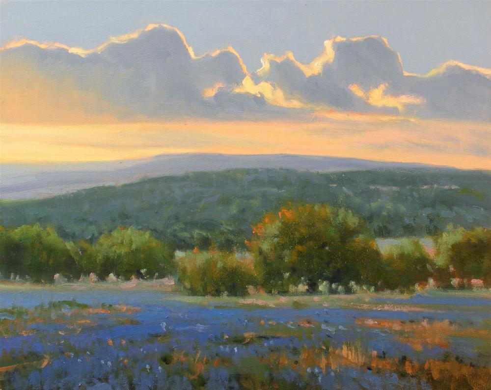 """Sundown in the Valley"" original fine art by David Forks"