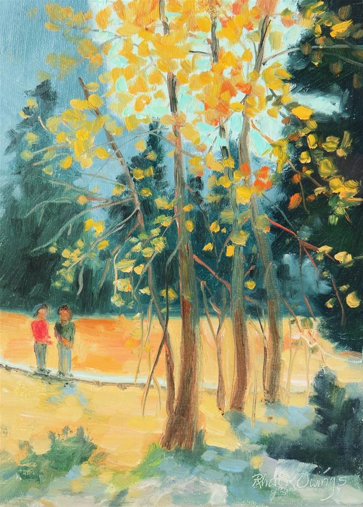"""Fall Color in Yosemite"" original fine art by Rhett Regina Owings"
