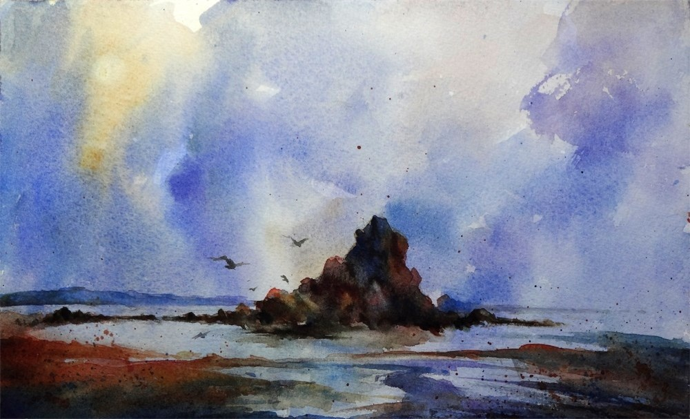 """Low Tide"" original fine art by Arena Shawn"