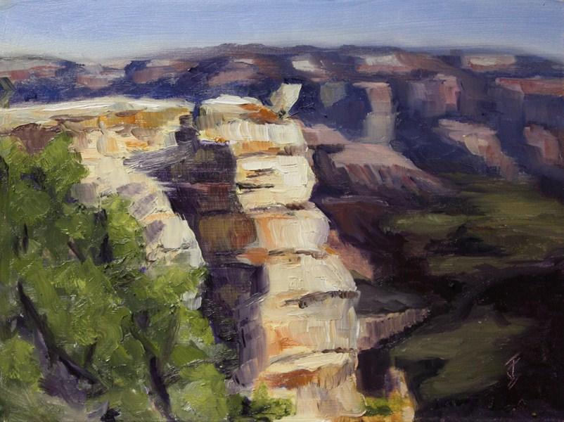 """Sunlit Point"" original fine art by Jane Frederick"
