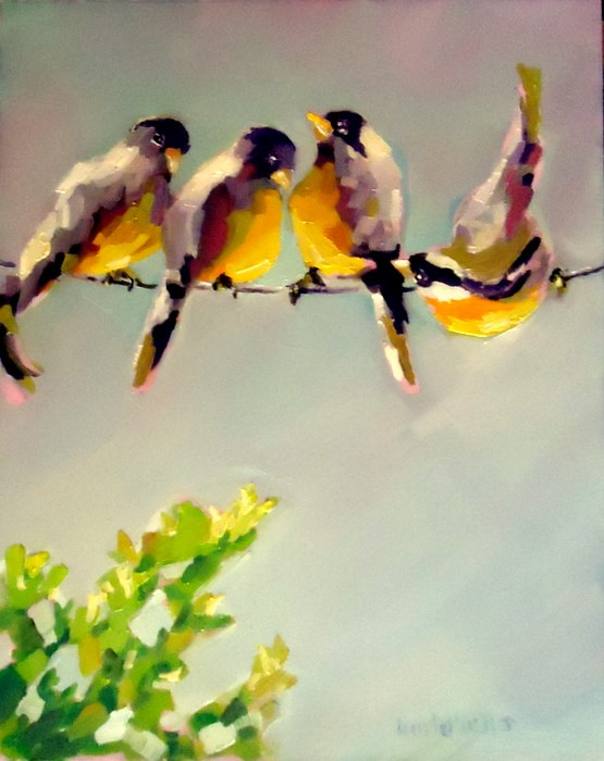 """""""Hang in There"""" original fine art by Laurie Mueller"""