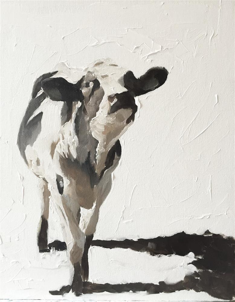 """""""A Cow"""" original fine art by James Coates"""