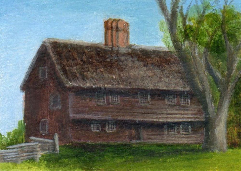 """""""Parson Capen House"""" original fine art by Debbie Shirley"""