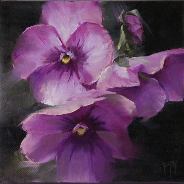 """Purple Pansy Study 1"" original fine art by Lori Twiggs"