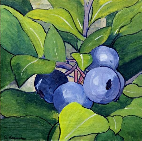 """""""Blueberry Twig"""" original fine art by Anna Vreman"""