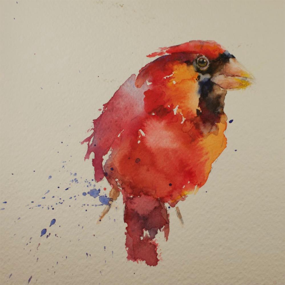 """Series Sketch #8 (cardinal)"" original fine art by Sue Churchgrant"