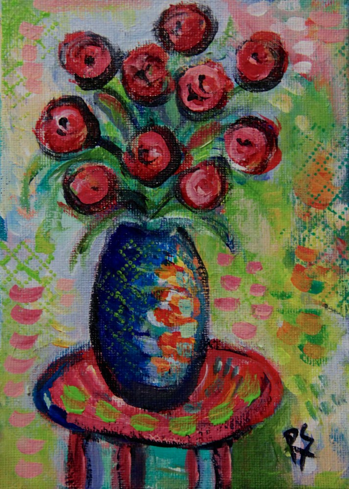 """Summer Flowers #3"" original fine art by Roberta Schmidt ArtcyLucy"