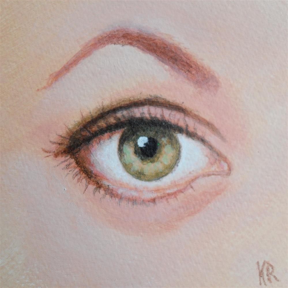 """Green Eye"" original fine art by Karen Roncari"