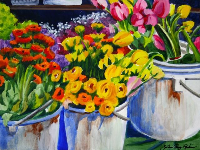 """Flower Power"" original fine art by JoAnne Perez Robinson"