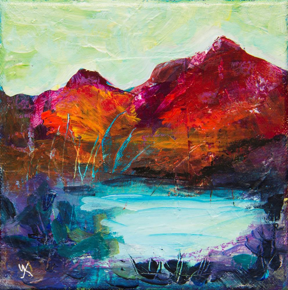 """Red Mountains"" original fine art by Yulia Kazansky"