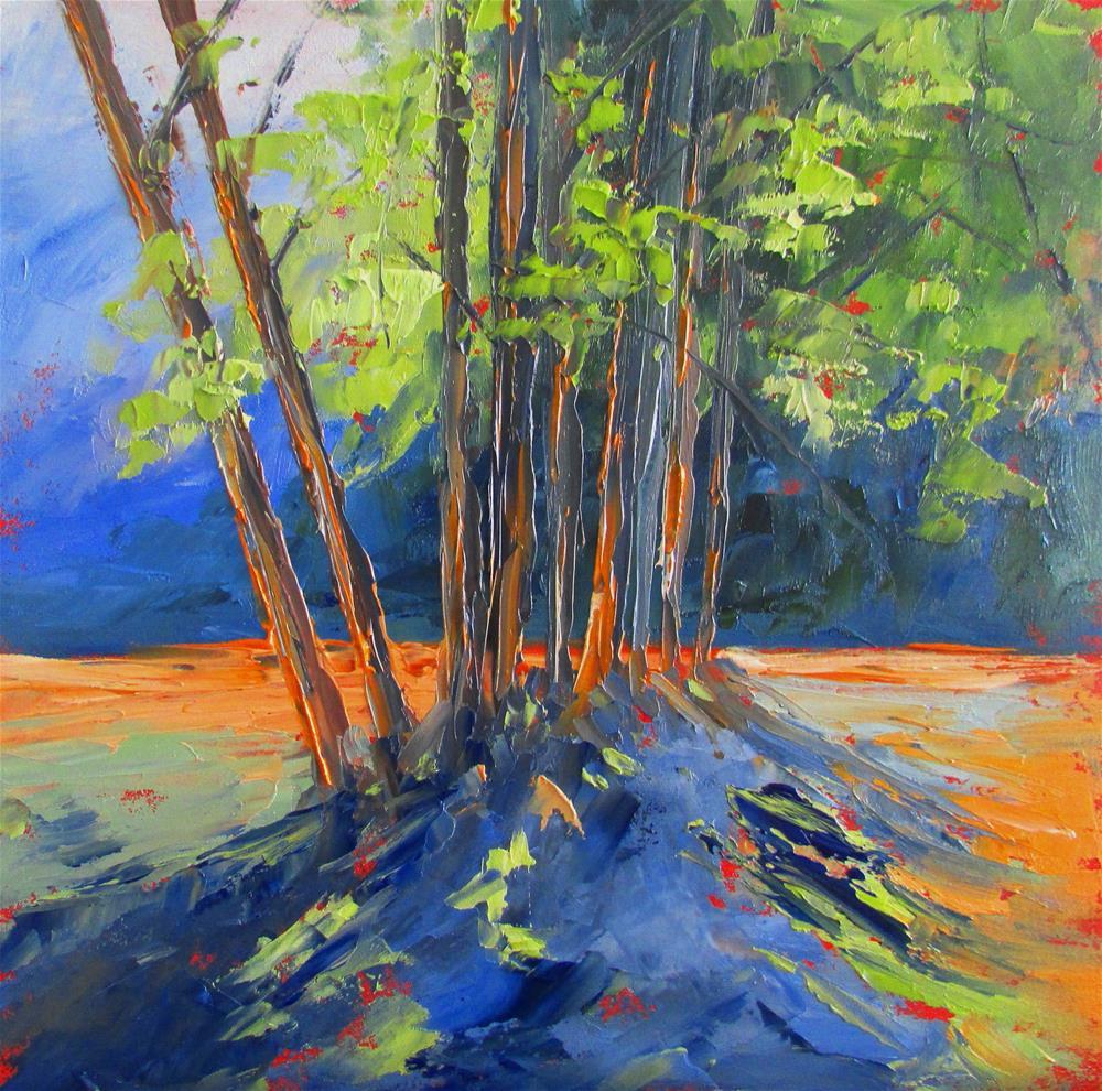 """""""8 x 8 oil In the Glenn"""" original fine art by Linda Yurgensen"""