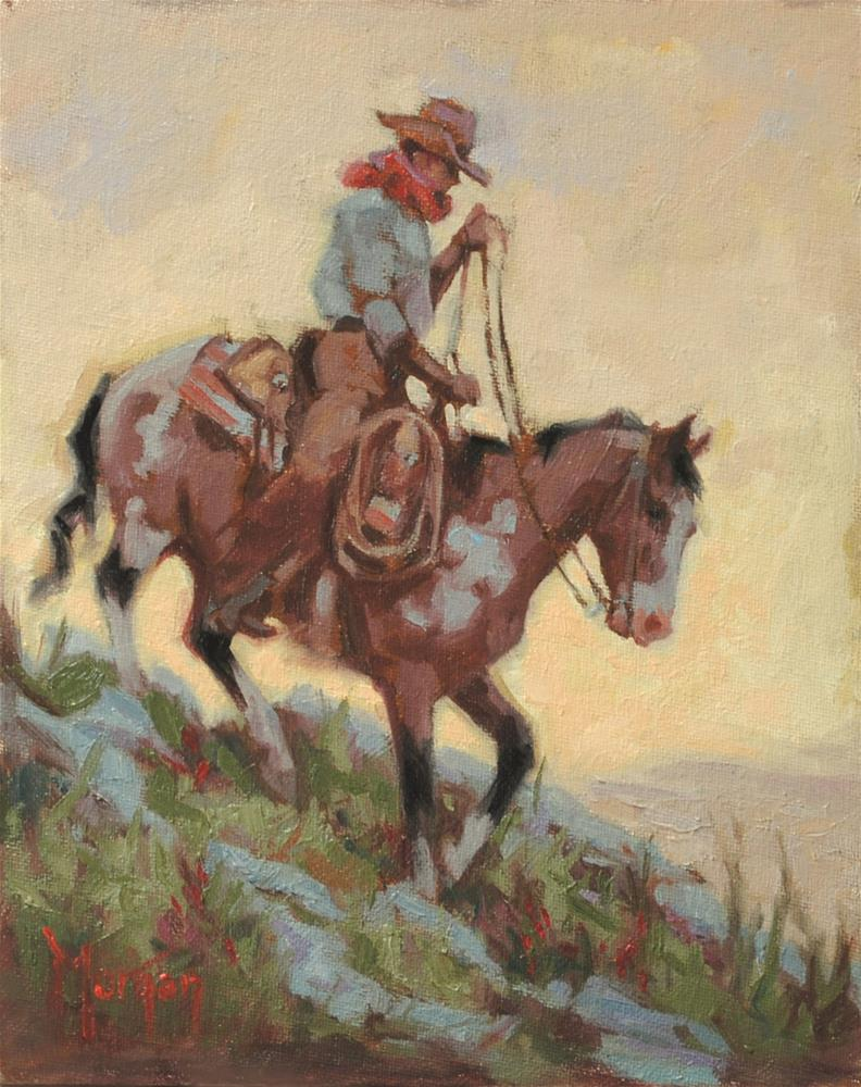 """Wrangler Memories #4"" original fine art by Cecile W. Morgan"