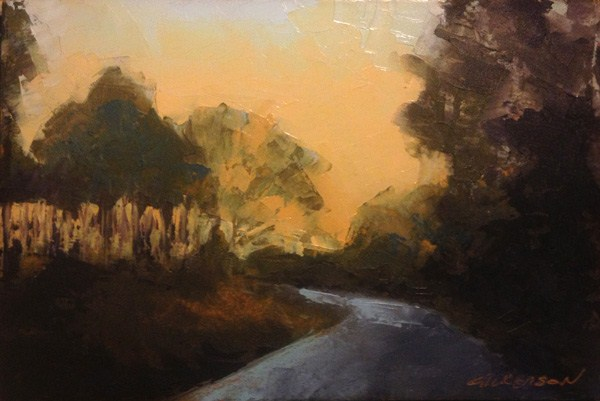 """""""Light through the Pines"""" original fine art by Mary Gilkerson"""