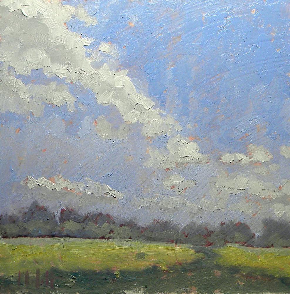 """Summer Clouds Landscape Contemporary Impressionism Heidi Malott"" original fine art by Heidi Malott"