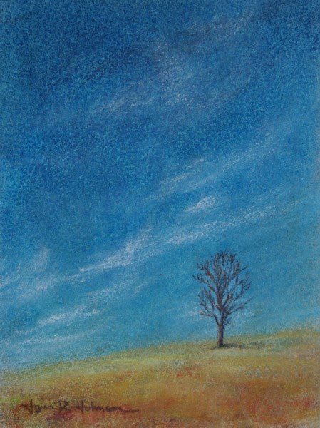"""Fitton Green Tree"" original fine art by Jana Johnson"