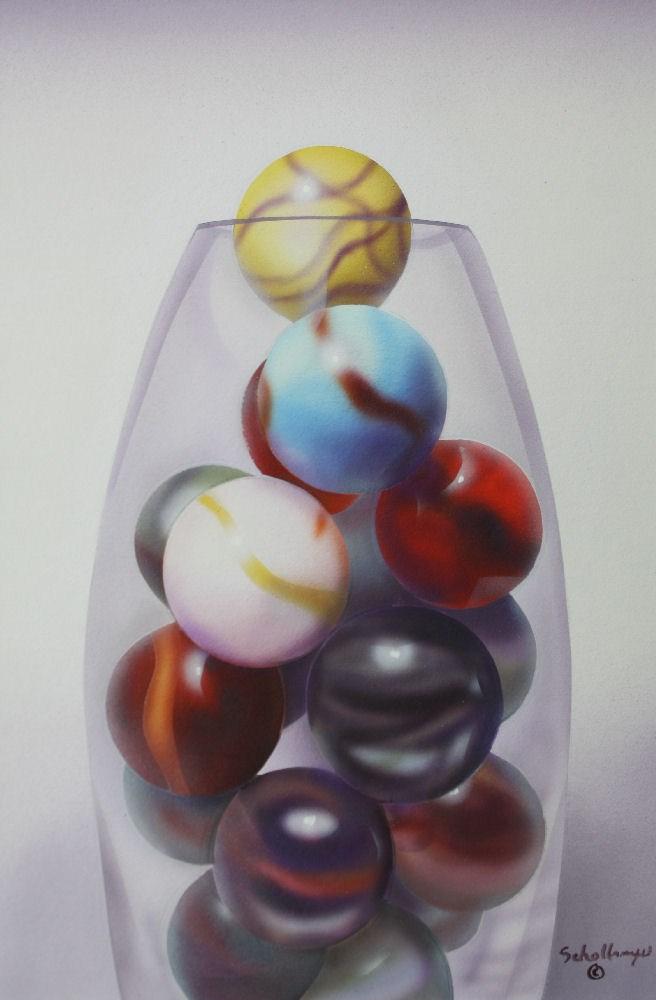"""""""Marbles # 15"""" original fine art by Fred Schollmeyer"""