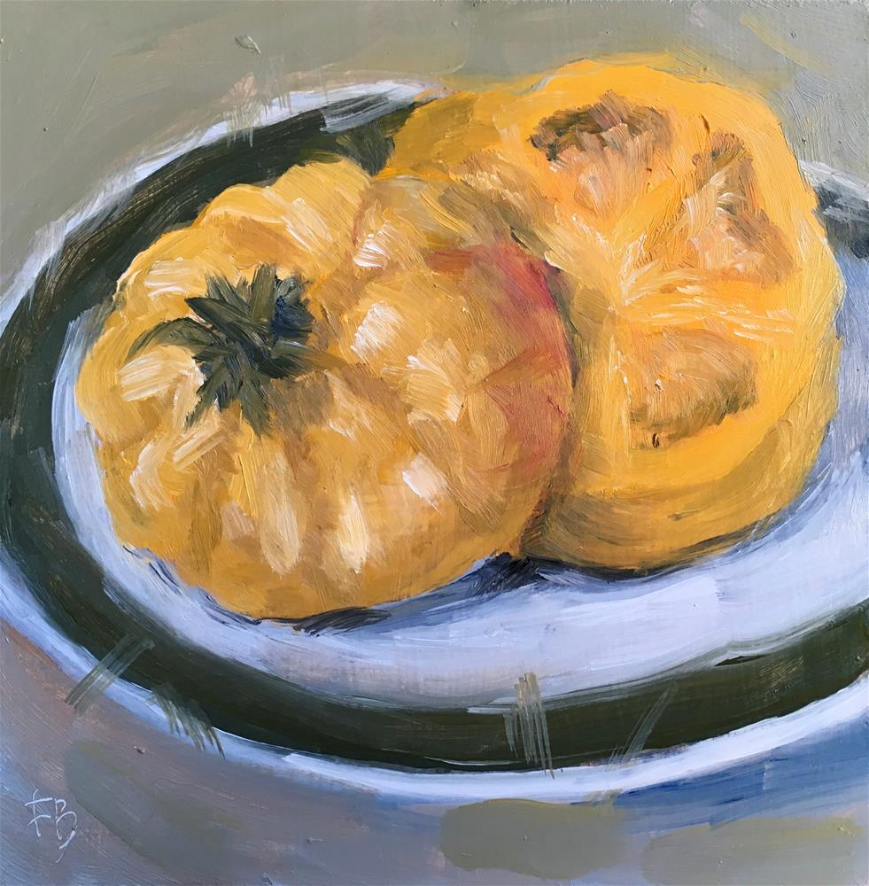 """096 Heirloom Tomato, free shipping"" original fine art by Fred Bell"