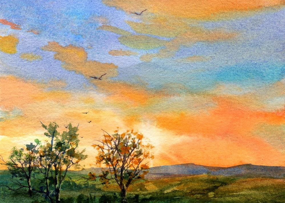 """A New Day Dawns"" original fine art by Linda Henry"