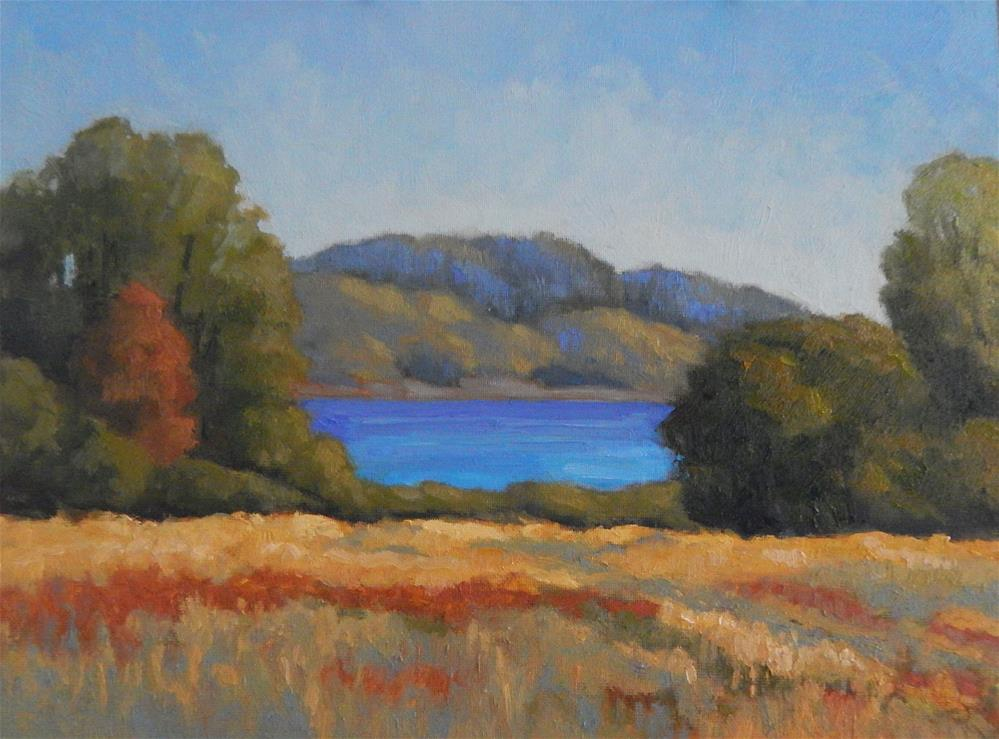 """""""Morning at the Meadow"""" original fine art by Lisa Kyle"""