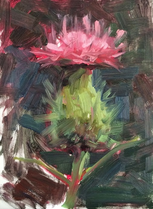 """Thistle"" original fine art by Deborah Newman"