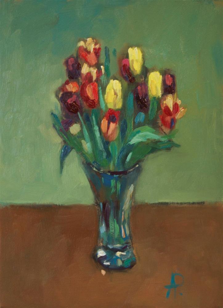 """'Tulips'"" original fine art by Andre Pallat"