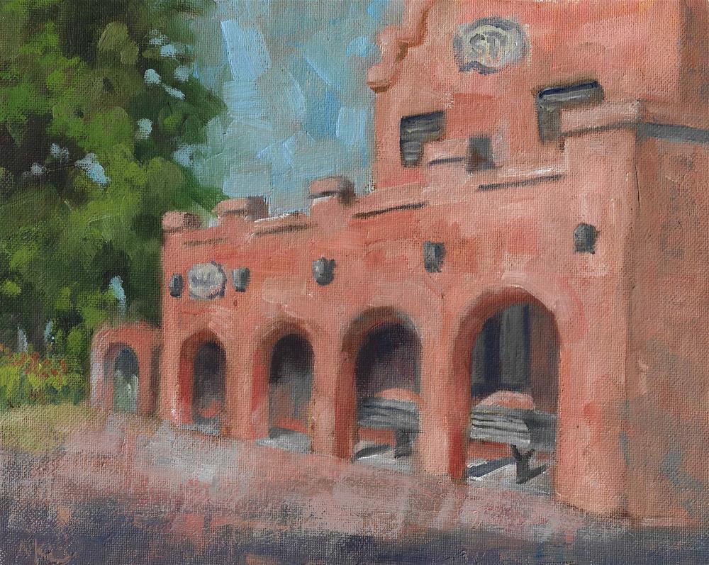 """""""Amtrak Station"""" original fine art by Marlene Lee"""