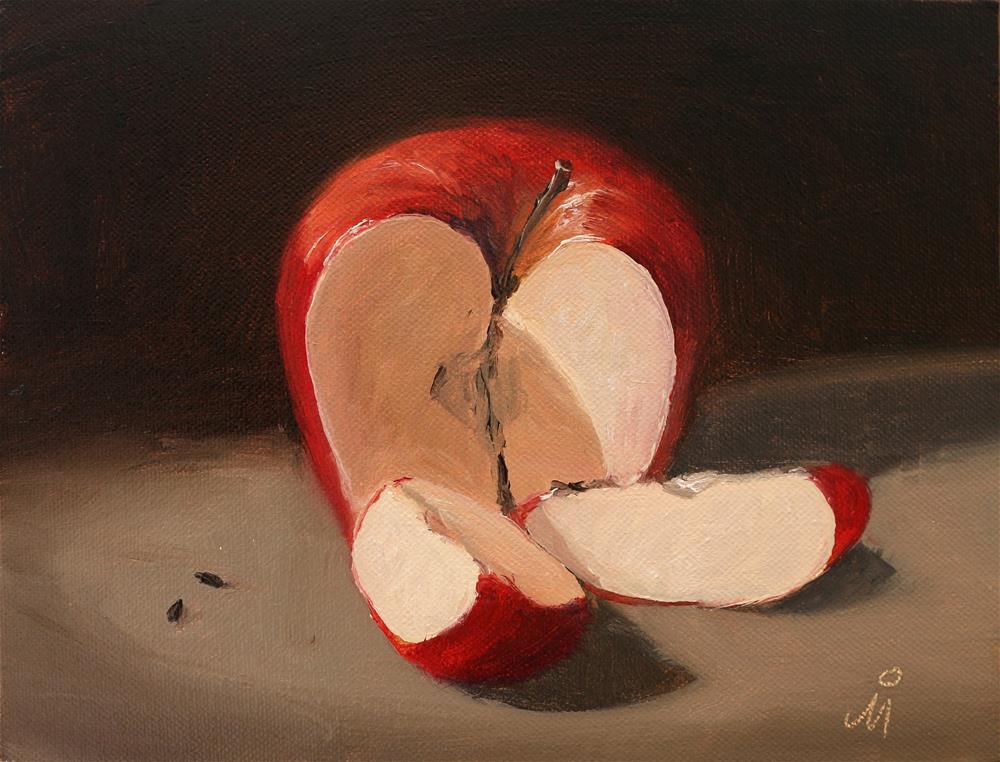 """""""An apple a day"""" original fine art by Mandar Marathe"""