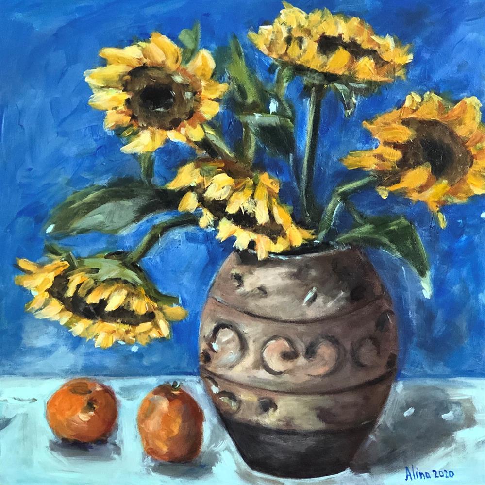 """""""Sunflowers"""" original fine art by Alina Vidulescu"""
