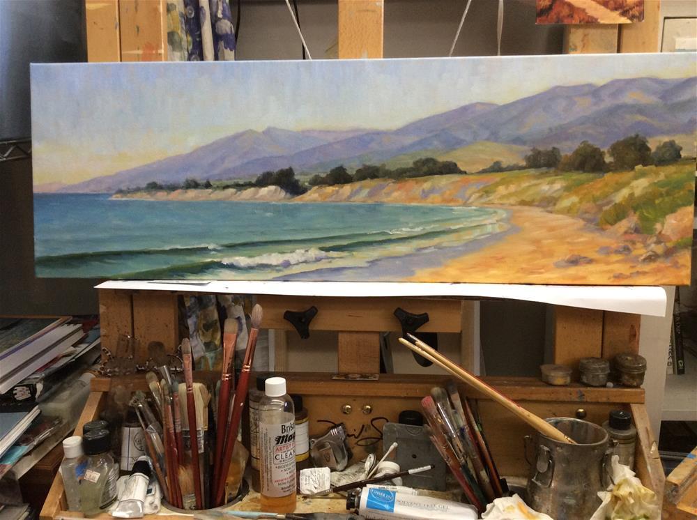 """""""Gaviota coast"""" original fine art by Leigh Alexandra Sparks"""
