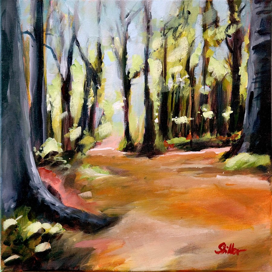 """1742 Forest Tourist 2"" original fine art by Dietmar Stiller"