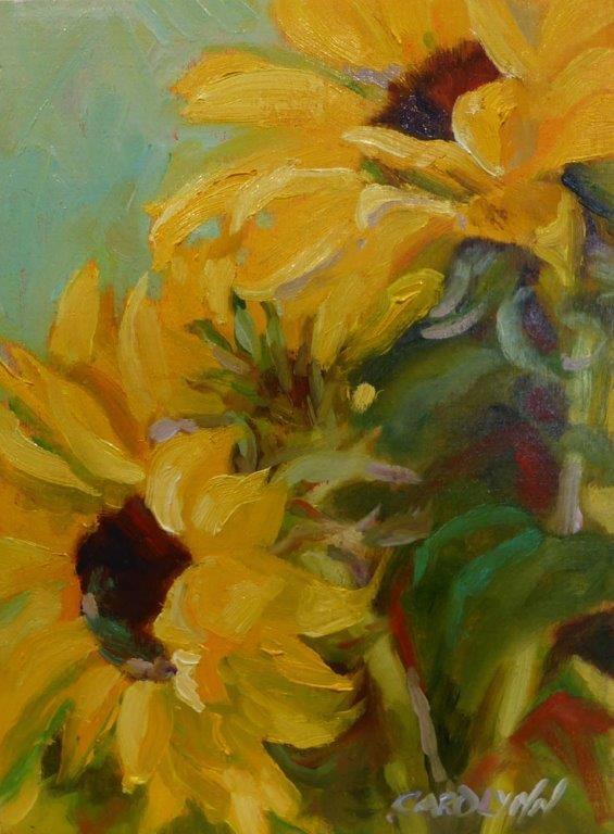 """Sun Dreamers"" original fine art by Carolynn Doan"