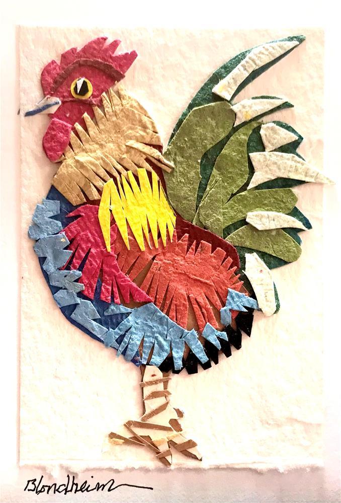 """Barnyard Rooster"" original fine art by Linda Blondheim"