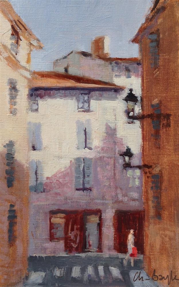 """Gd rue Nazareth"" original fine art by Christine Bayle"
