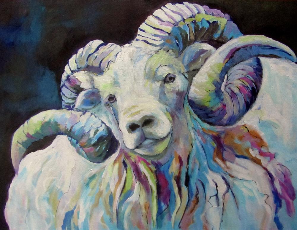 """Hornucopia"" original fine art by Patricia MacDonald"