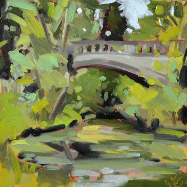 """State Park Bridge II"" original fine art by Jessica Green"