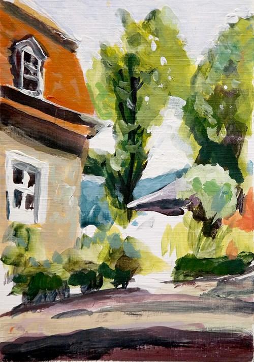 """2471 Castle Yard"" original fine art by Dietmar Stiller"