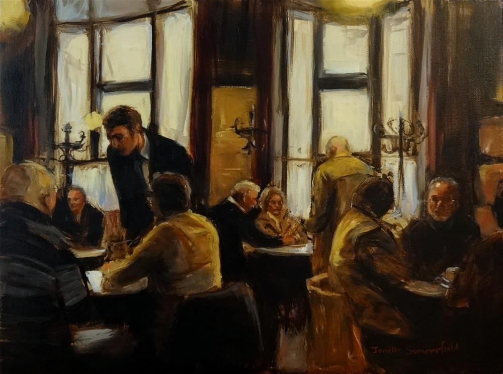 """""""Cafe Hawelka V"""" original fine art by Jonelle Summerfield"""