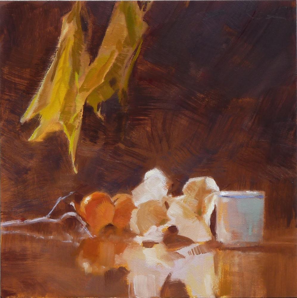"""The Last Persimmons"" original fine art by Ron Ferkol"
