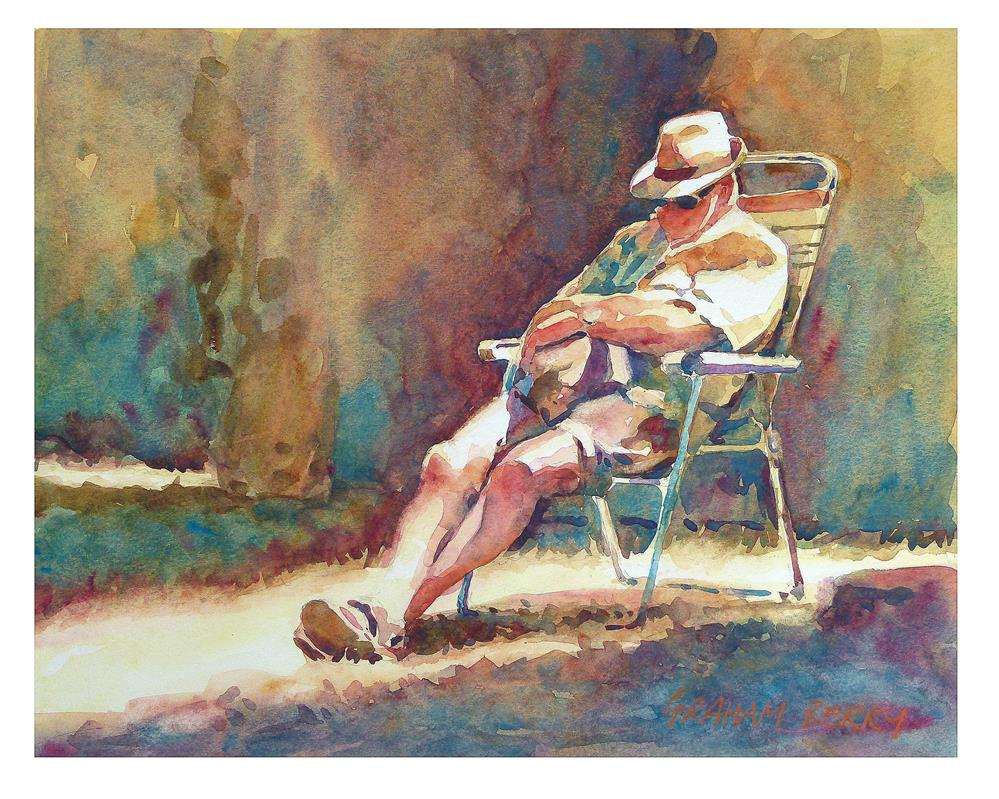 """Sleeping in the morning sun"" original fine art by Graham Berry"