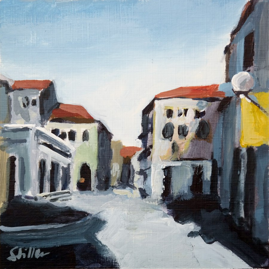 """1916 Padua View"" original fine art by Dietmar Stiller"