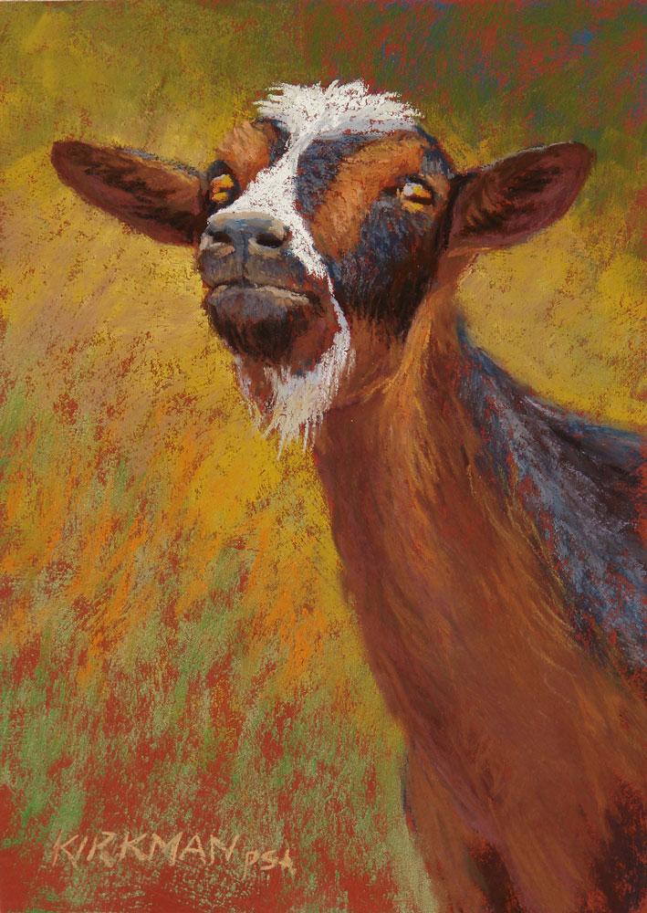 """Yoda the Goat"" original fine art by Rita Kirkman"