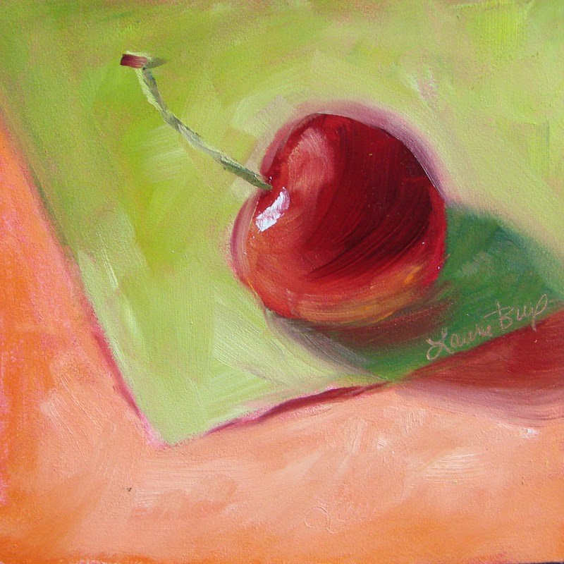 """Red, Ripe and Delicious! 258"" original fine art by Laura  Buxo"