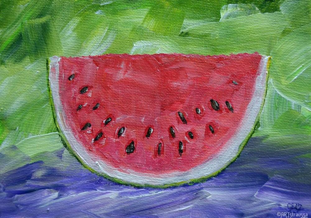 """""""SALE!!! Juicy Red"""" original fine art by Gloria Ester"""