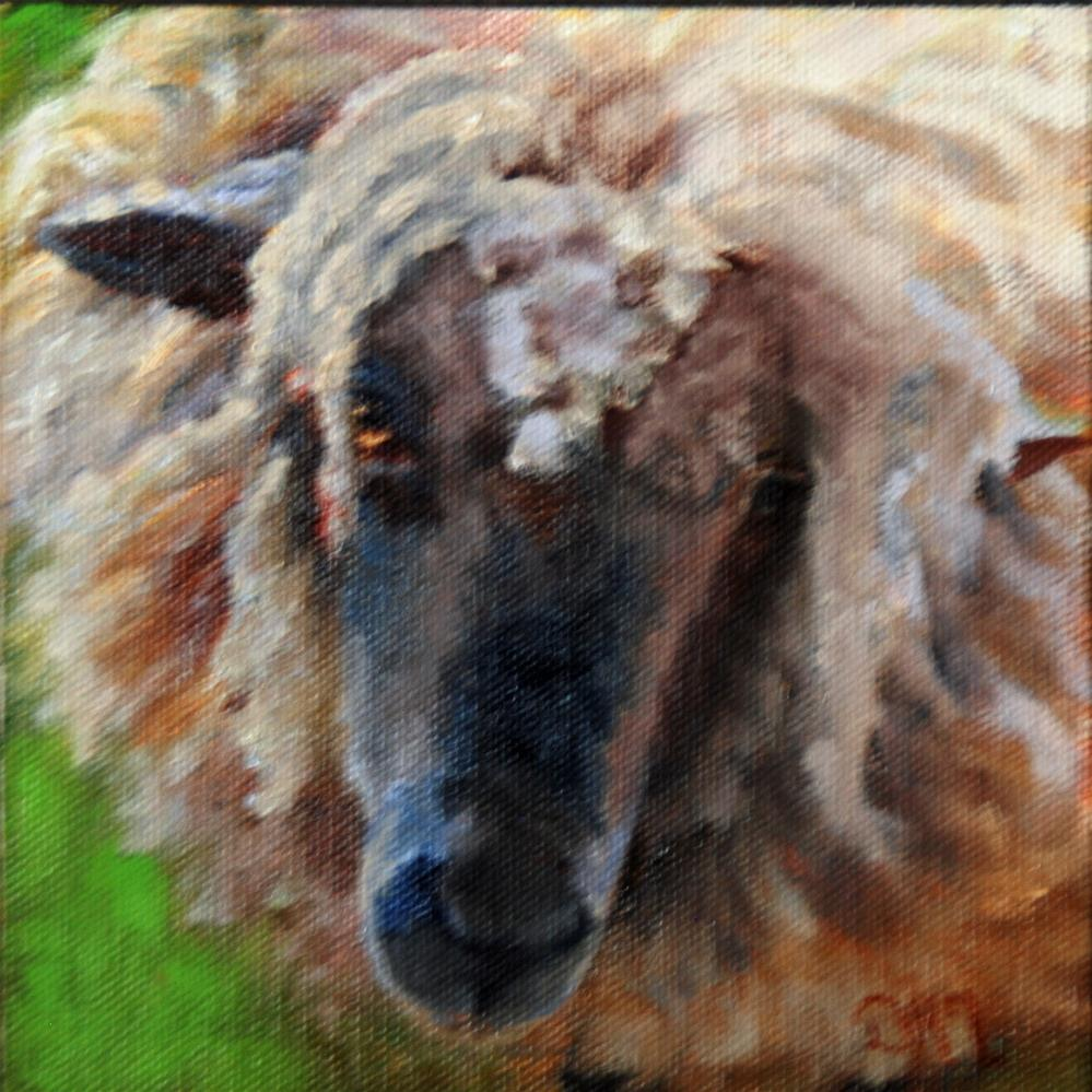 """Baa"" original fine art by Dorothy McLennan"