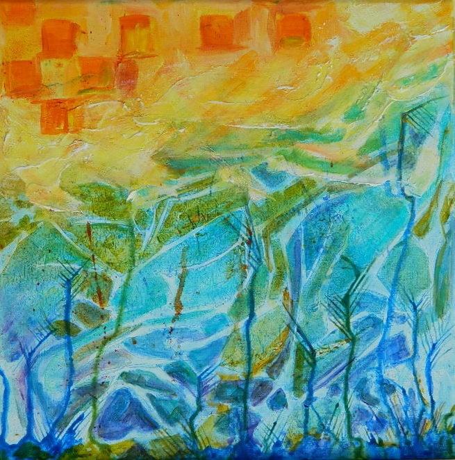 """#1 Frottage "" original fine art by Gloria Urban"