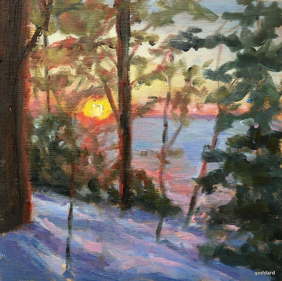 """Winter's Gold"" original fine art by Shari Goddard Shambaugh"