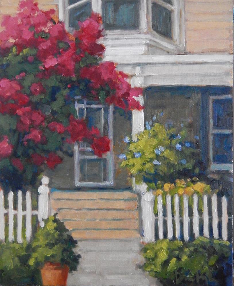 """""""Under the Crepe Myrtle"""" original fine art by Lisa Kyle"""