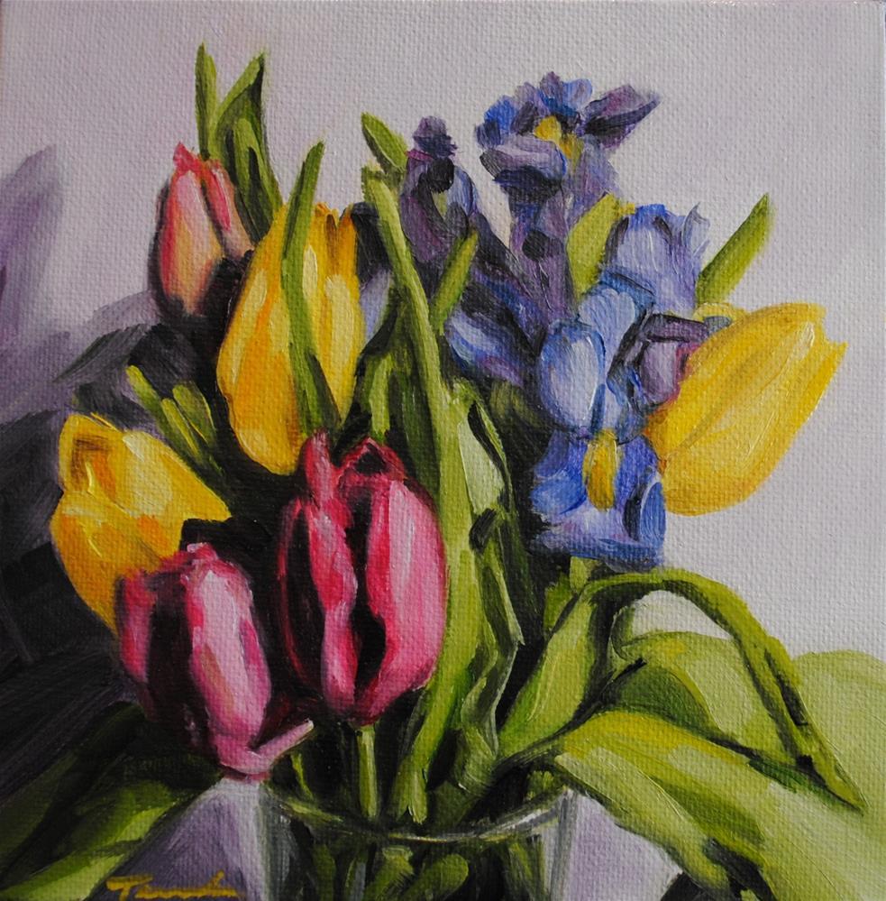 """""""Spring Mix"""" original fine art by Tamanda Elia"""