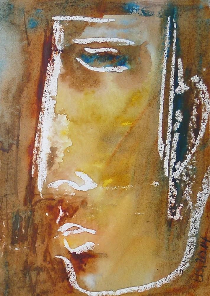 """The warrior"" original fine art by Ulrike Schmidt"