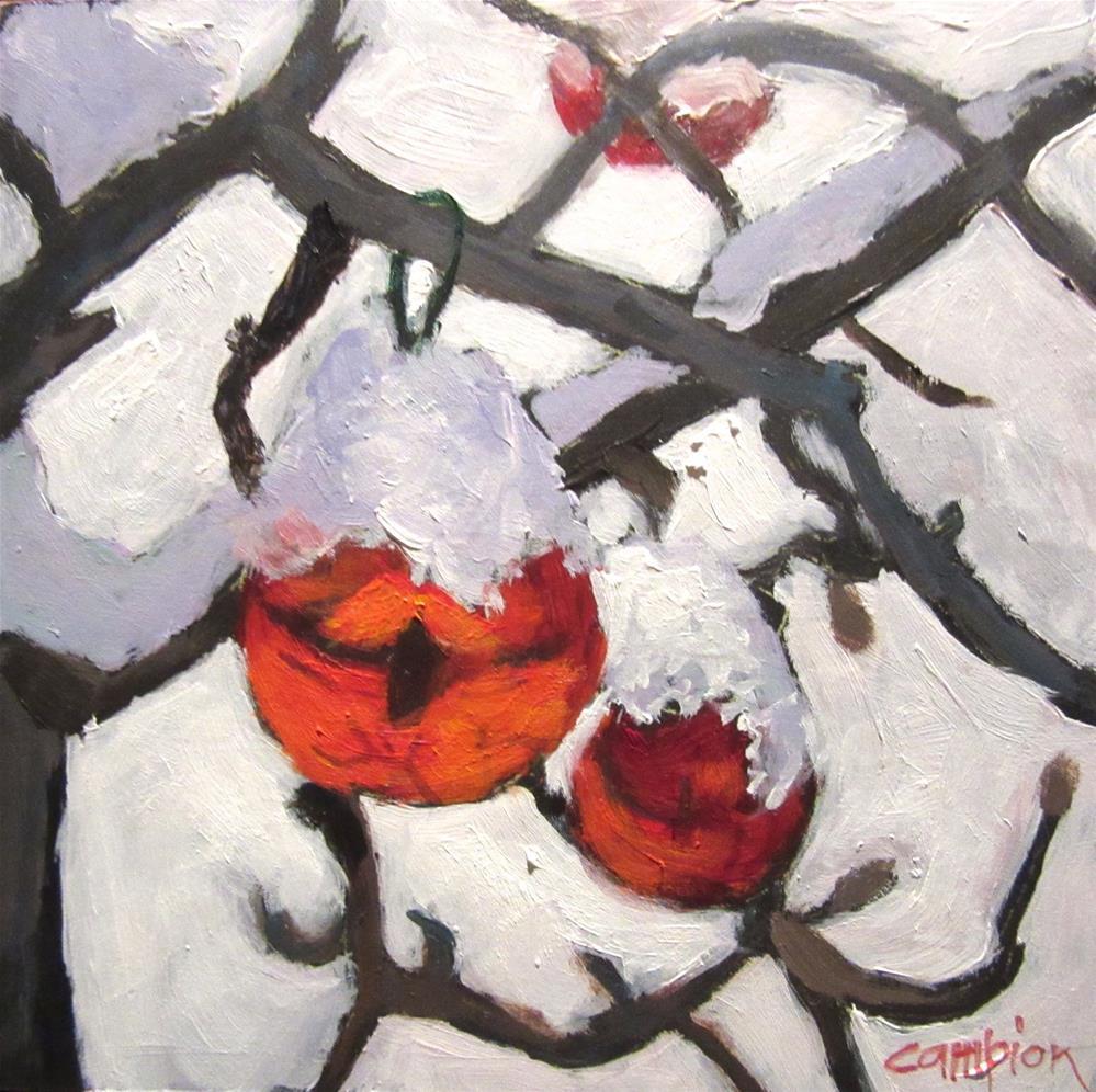 """521 Freshly Fallen"" original fine art by Diane Campion"